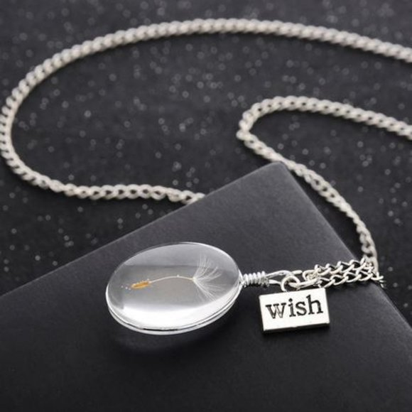 Wish / Dandalion Flowers Necklace
